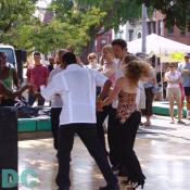 Dancing at the Adam's Morgan day festival