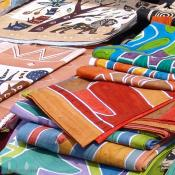 African textiles can be purchased at the Adam's Morgan day festival.
