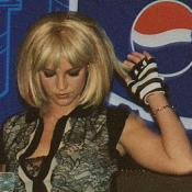 "Britney Spears tries to avoid a question about her famous ""Madonna Kiss"" at the VMA awards."