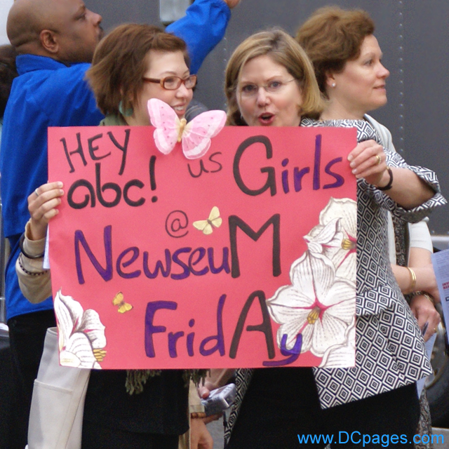 HEY ABC - US GIRLS @ NEWSEUM FRIDAY