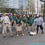 Newseum Staff doing a choreographed Boogie