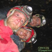Cave passage can be tight and cavers learn how to get real close.