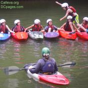 Kayaking class being taught for newcomers