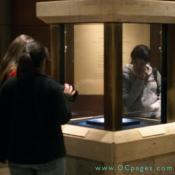 visitors can view the Hope Diamond through a secured glass display.