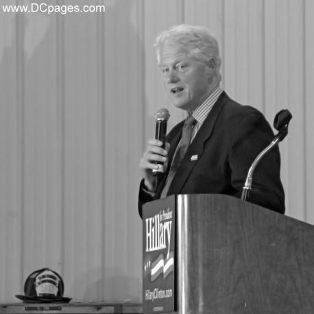 Bill Clinton Stumps Small Town Voters