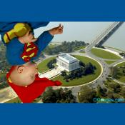 Aerial View of Lincoln Memorial - Super Baby  Visits The Lincoln Memorial