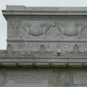 East  Exterior View - Lincoln Memorial - Frieze, Cornice, and Atttic