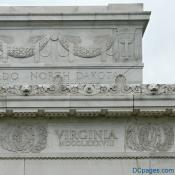 North East  Corner Exterior View - Lincoln Memorial - 1788 Frieze