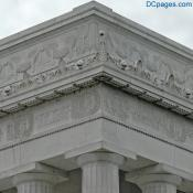 North East Exterior View - Lincoln Memorial Carved Sculpture