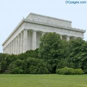North East Exterior View - Lincoln Memorial in Summer