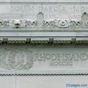 North Exterior View - Lincoln Memorial Attic Wall - Frieze