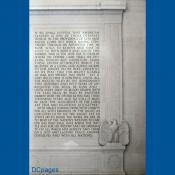 Lincoln Memorial - Interior Inscription