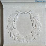 Lincoln Memorial - Olive Branch Wreath Relief