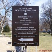 US Capitol Tours - Ticket Distribution