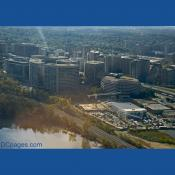Flying over Crystal City, Virginia