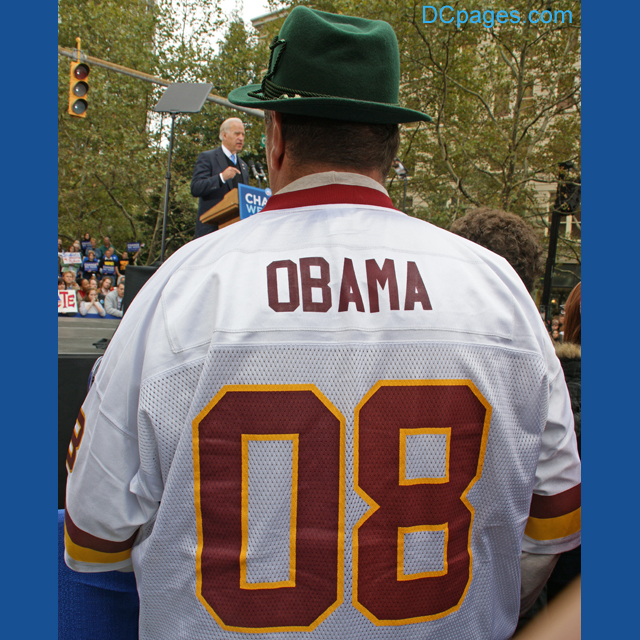 OBAMA 08 Redskins Jersey