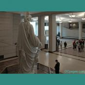 Emancipation Hall -  Statue Of Freedom - Over Her Right Shoulder View