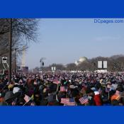 Obama supporters packed the National Mall for the Inaugural ceremony