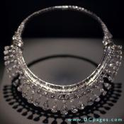 Hazen Diamond Necklace - The 325 diamonds in this platinum necklace weigh a total of 131.4 carats. Harry Winston, Inc., designed it.