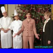 Mrs. Laura Bush and White House staff explain the holiday receptions held in the State Dining Room.