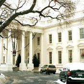 The front drive way of the White House