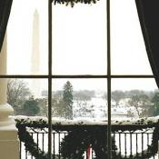 Amazing views scene through every window in the White House