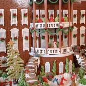 White House chefs enjoyed creating this 80lbs of gingerbread, 50lbs of chocolate, and 20lbs of marzipan