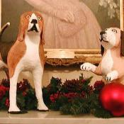 These pups are in honor of President Lyndon Johnson's two famous beagles, Him and Her