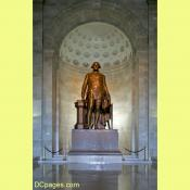 Bronze statue of George Washington in the National Masonic Temple, Alexandria, Virginia