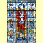 Dr. Elisha Cullen Dick Stain Glass Window