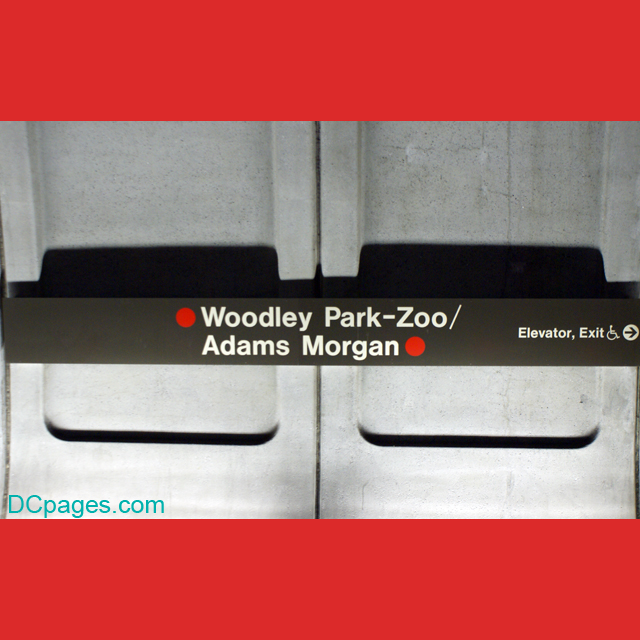 Riding on the Metro: DC's Woodley Park - Zoo/Adams Morgan station