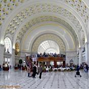 Union Station's gold-gilded main foyer, Washington, DC
