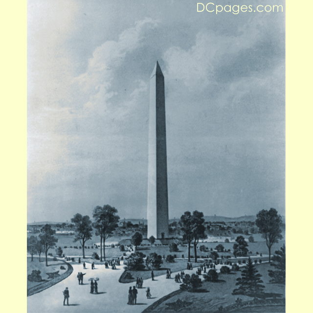 The Washington Monument 1886 Plate