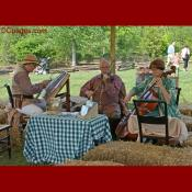 Musicians performing at Mount Vernon on Mother's Day
