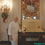 350 lb. white-chocolate ginger bread house