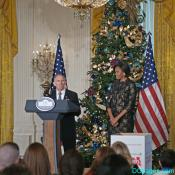 Lieutenant General Pete Osman and Michelle Obama
