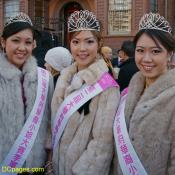 Pageant Queens in Chinese New Year Parade, Chinatown DC