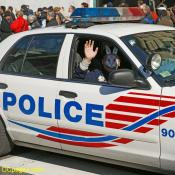 DC Police Officer's Son in Rabbit mask
