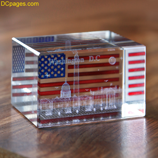 Washington DC Glass Paperweight