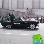 Douglas Duncan, Montgomery County Executive waves to crowd during DC St Patricks Day Parade