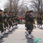 St Patricks Day Parade - Emerald Society Firefighters of Washington, D.C. Pipes and Drums.