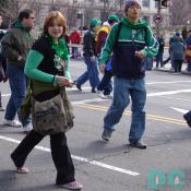 "irish girl st patricks day parade. ""Lá Fhéile Pádraig Sona Duit La ale-lah pwad-rig son-ah ditch"" Translation from Irish Gaelic to English, ""Happy St. Patrick's Day."""