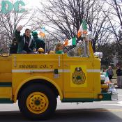 DC St Patricks Day Parade - Engine CO. 7 Fire Truck