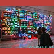 Third Floor - Contemporary Art - 32-foot-wide glowing map of the United States with more than 300 televisions by Nam June Paik