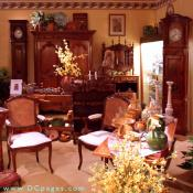 A glimpse into our country room, with its assortment of Provencal pottery, faience, objets in copper, stone, marble, zinc, kitchen items and, always, furniture.