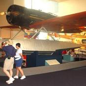 The museum possesses all different kinds of aircraft.
