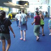 The museum's different levels were crawling with tourists and aviation enthusiasts.