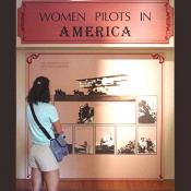 This exhibit is dedicated to woman pilots in america.