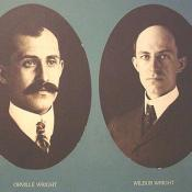 Here they are, the fathers of human flight, Orville and Wilbur Wright.