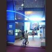 In this exhibit it shows space imagery of the Earths surface.